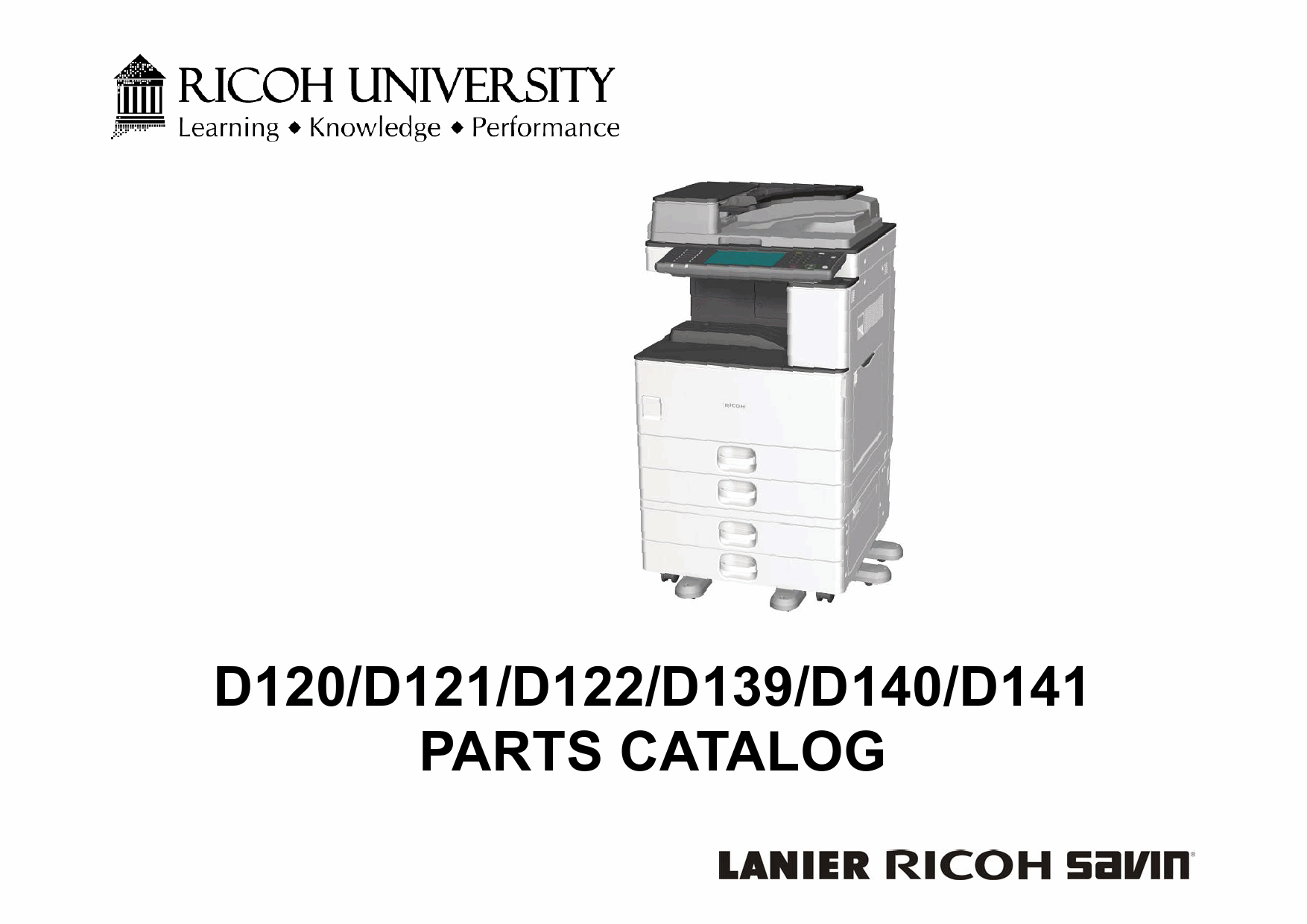 RICOH Aficio MP-2352SP 2852 3352 D120 D121 D122 D139 D140 D141 Parts Catalog-1